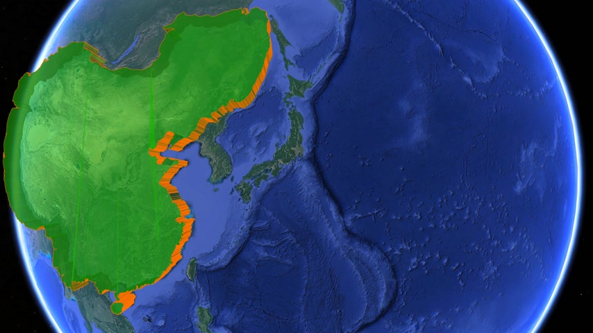 династия : Great Qing dynasty boundaries. Imperial on 3D rotating old historic world map. Inner Asia empire geography. Moving animation conquest graph chart old age China Manchuria Manchu cart historical atlas. Стоковые видеозаписи