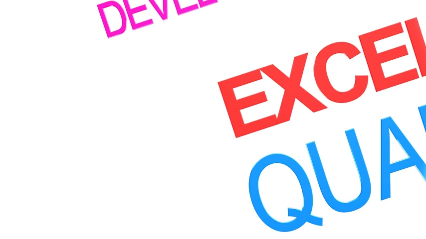 ulaşmak : Word cloud about excellence in business service Stok Video