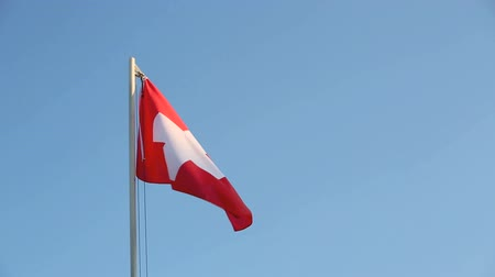 suíça : Switzerland flag in slow motion