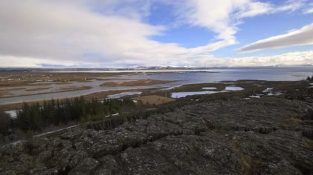 southwest iceland : Time lapse of lake Pingvallavatn in Iceland