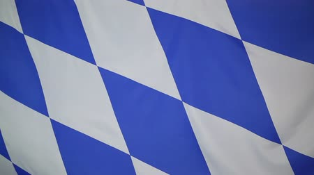 bavaria flag : Flag of Bavaria, Germany Stock Footage
