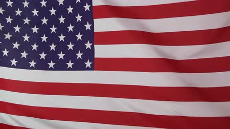 acetinado : Textile United States flag Stock Footage