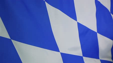 bavaria flag : Closeup of a Bavarian flag, Germany