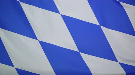 bavaria flag : Textile flag of Bavaria, Germany Stock Footage