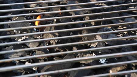 after fire : Closeup of a charcoal grill