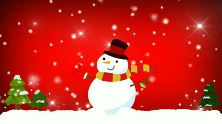 trouwen : Merry Christmas animation background motion video premium