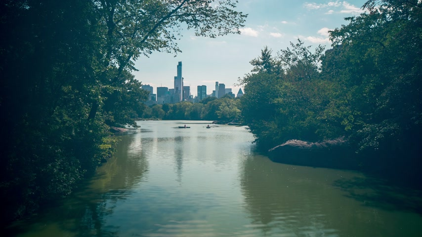 américa central : central park cozy river 4k time lapse from new york