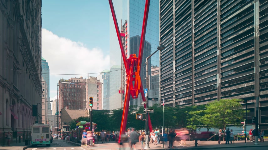 вниз : new york wall street joie de vivre 4k time lapse Стоковые видеозаписи