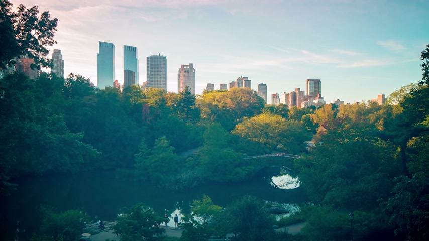 américa central : end of the day in new york central park 4k time lapse