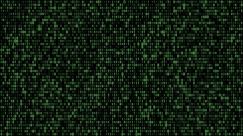 foltos : Digital matrix binary flow green Stock mozgókép