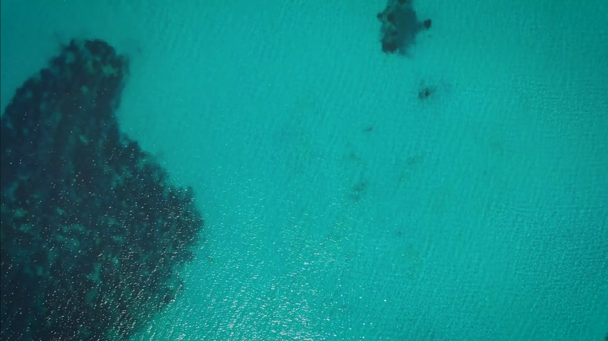 efeito texturizado : sea from a drone view. bird view