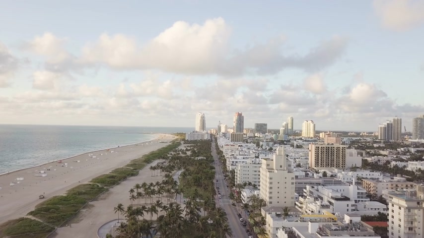 Vista superior de Ocean Drive. South Beach Miami