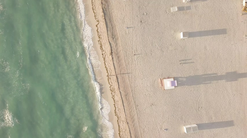 sandy : Aerial view of sandy beach. miami beach