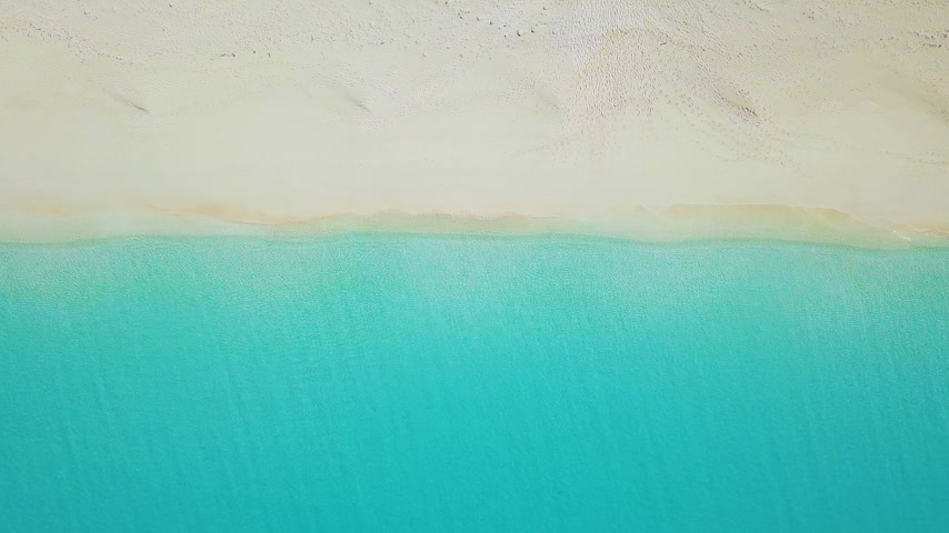sandy : Aerial view of sandy beach. exuma bahamas