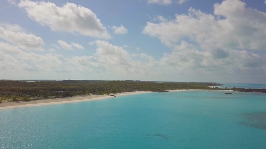 vaha : aerial view of Exuma at the Bahamas. summer vacation