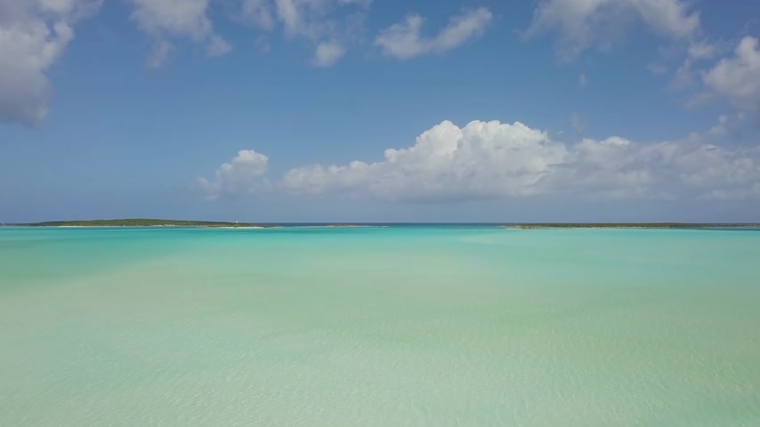 タヒチ島 : aerial view of Exuma at the Bahamas. summer vacation