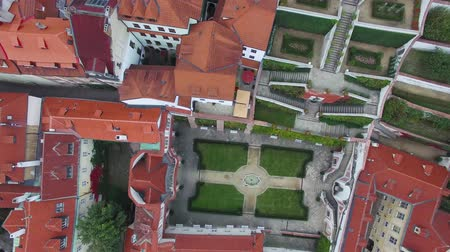 Čechy : Aerial top view of the Palace Gardens in Prague