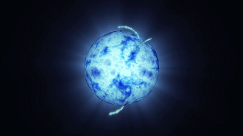 menő : Blue energy abstract with a spherical plasma look radiating electric rays, for video and after effects project backgrounds