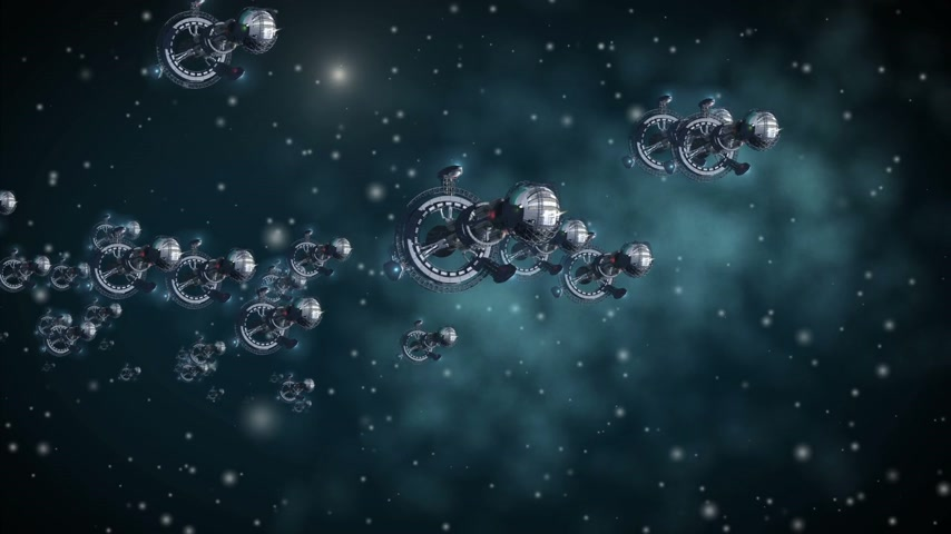 war : Alien spaceships in interstellar deep space travel, for futuristic or fantasy backgrounds.