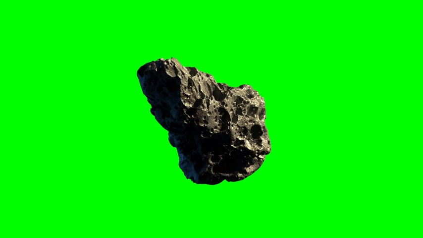 duro : Asteroid twirling in a loop on green screen for space backgrounds Vídeos