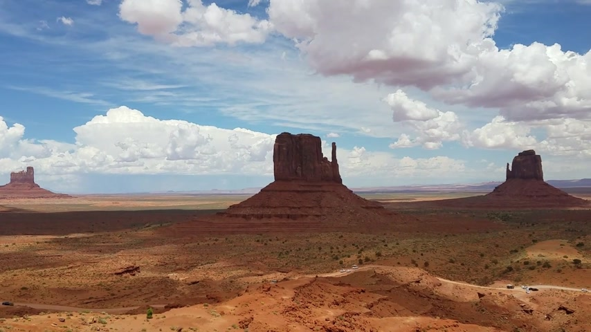 kmenový : Monument Valley panorama from the Navajo Nation Tribal Park visitor center, on the Arizona-Utah border, USA