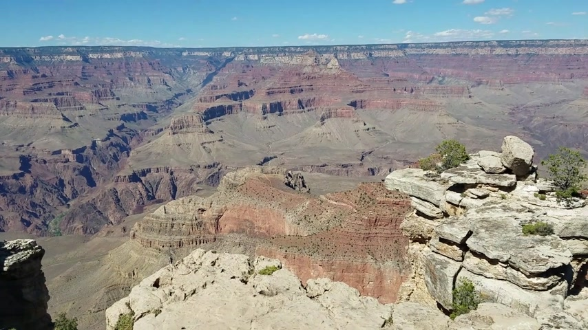 к юго западу : Grand Canyon National Park panorama from the South Rim, on the Arizona side, USA