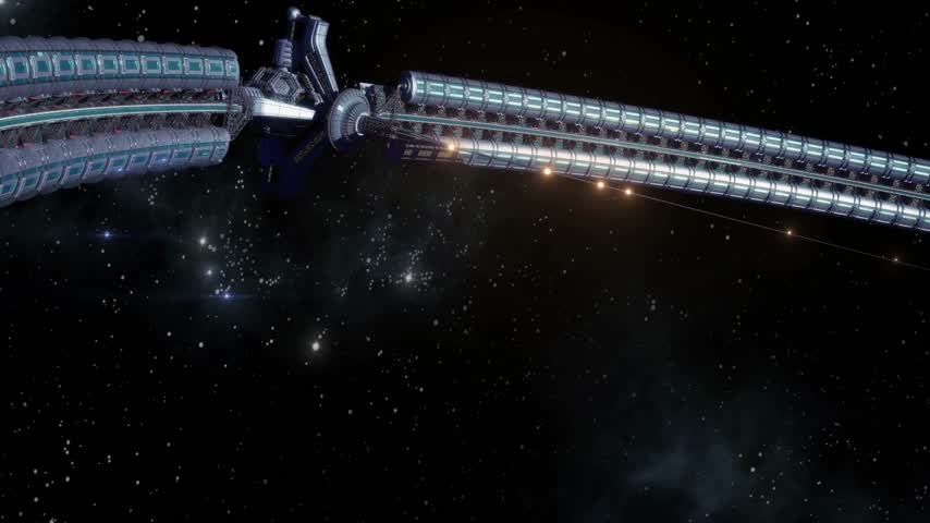 gravitace : Giant space wheel built around Earth as a symbol of humanity reaching a Type 1 civilization on Kardashev Scale, for science fiction or video game backgrounds.
