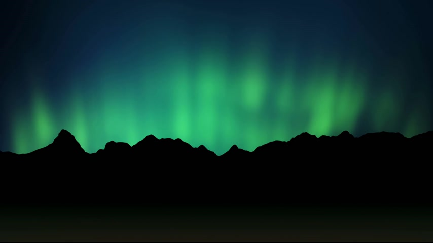 northern nature : Aurora - loopable Stock Footage