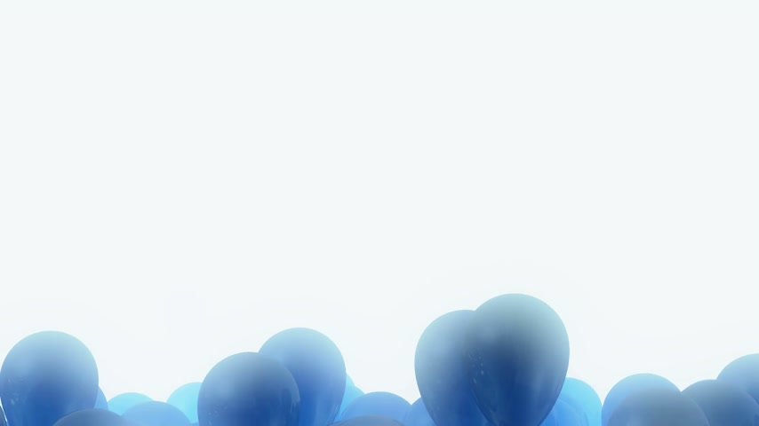 камедь : Dark blue balloons flying away on a light blue fulgent background - looped CG animation Стоковые видеозаписи