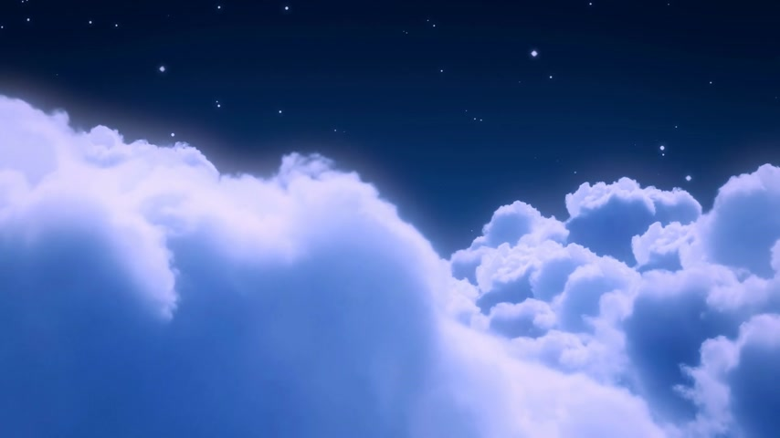 holidays : Flight over the night sky with stars Stock Footage