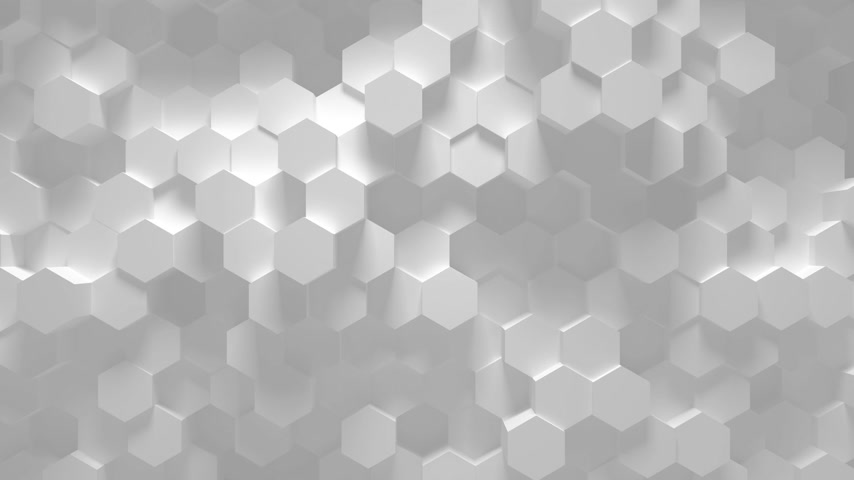 crumpled : Abstract geometric hexagon loop - 3D animation
