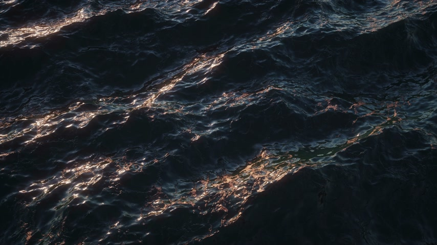 Stormy Sea Waves Loopable Background