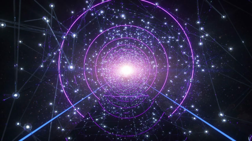 solucan : The Way Of The Soul Flying Throught Stars Tunnel In The Universe Stok Video