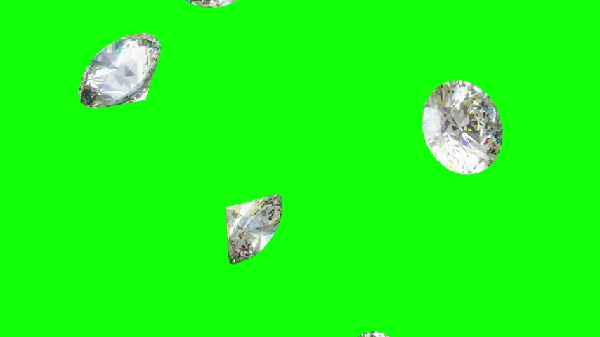 faceta : Falling Diamonds - Loopable CG Animation Stock Footage