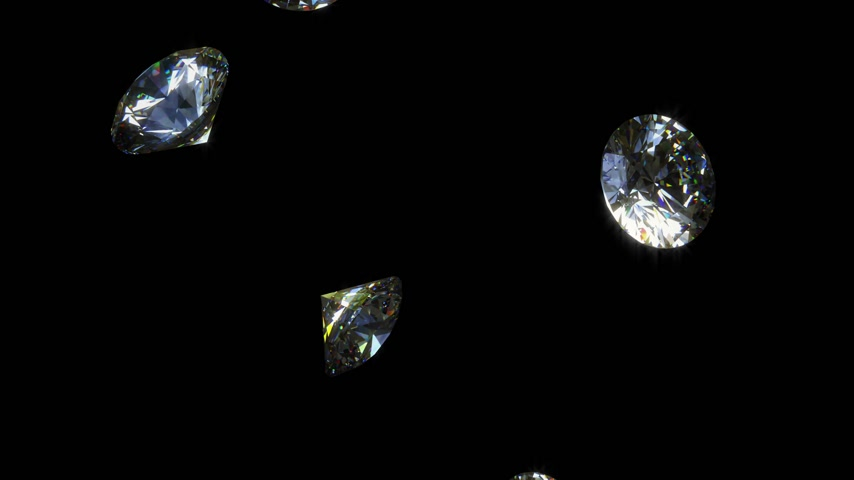 węgiel : Falling Diamonds - Loopable CG Animation Wideo