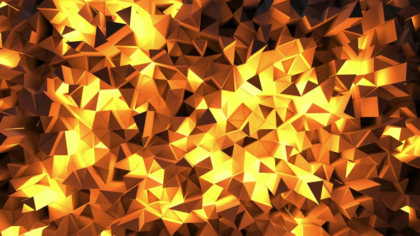 ポリゴン : Abstract shining triangular geometric loop background 動画素材