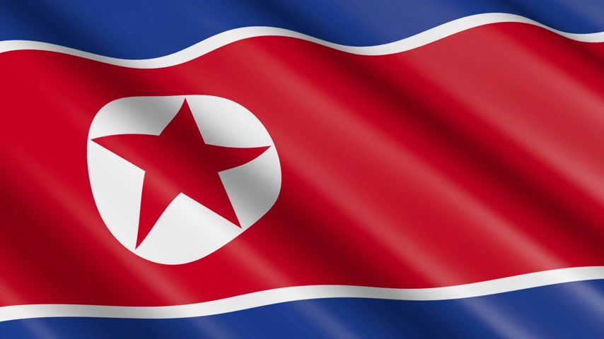 north korean flag : 3D material flag of North Korea
