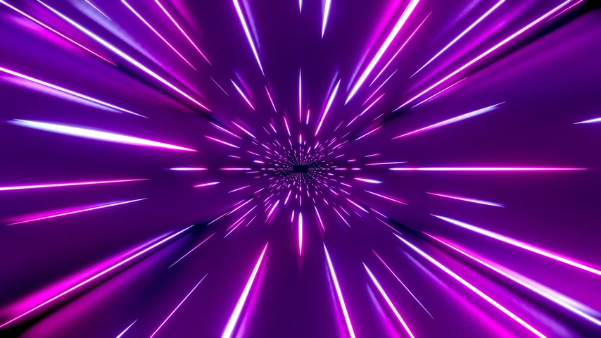 3D 4k abstract tunnel light speed concept 動画素材