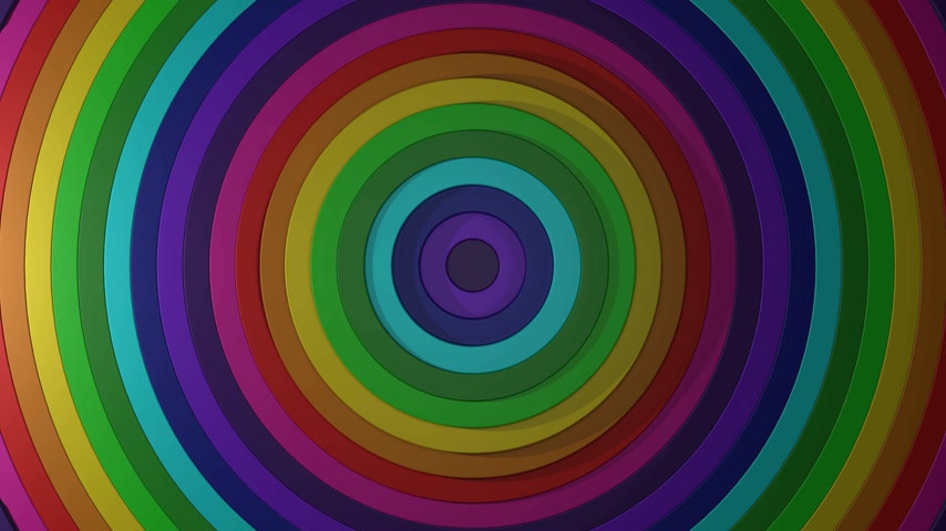 3D 4k abstract colorful rainbow spiral shapes