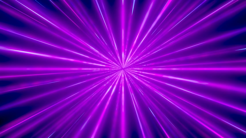 ultraviolet : 3D 4k abstract tunnel light speed concept Stock Footage