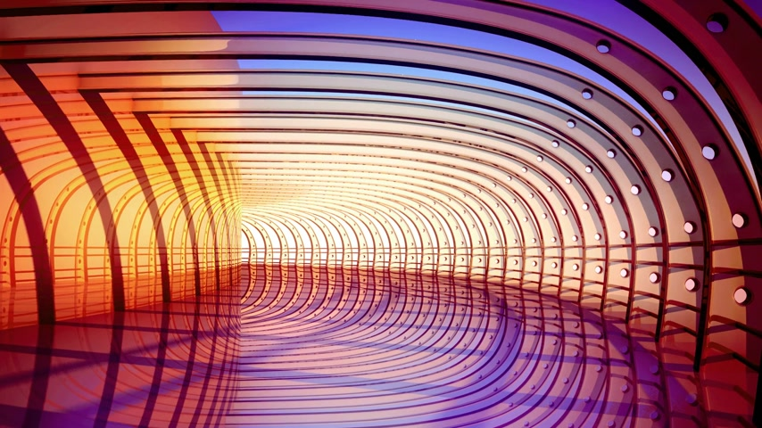 inspiração : 3D loopable animation of a colorful futuristic tunnel. Ideal for background. Vídeos