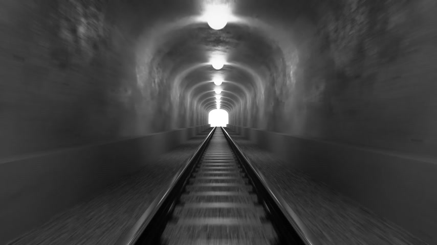 podzemní : Take a ride through old-looking rail tunnel with a light at the end. Can represent achieving your goals, getting through problems and obstacles or simply represent exactly what you can see - an old tunnel.