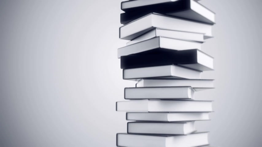 livros : Pile of books loopable animation.