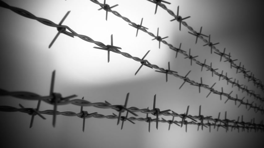 farpado : Barbed wire fence loopable animation.