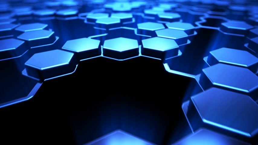 motion elements : Hexagon technology background Stock Footage