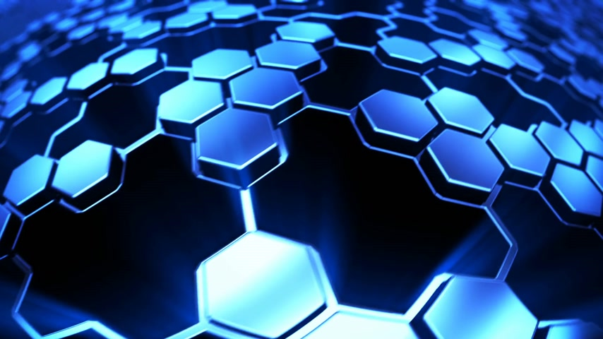 技术 : Hexagon technology background 影像素材