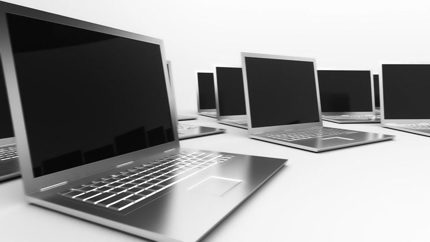 touchpad : Loopable animation of laptops.