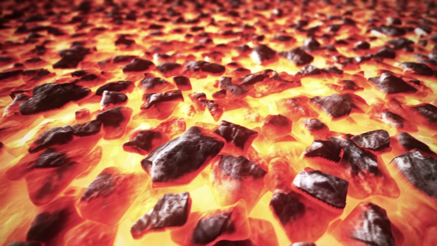minério : Closeup of burning fossil fuel.