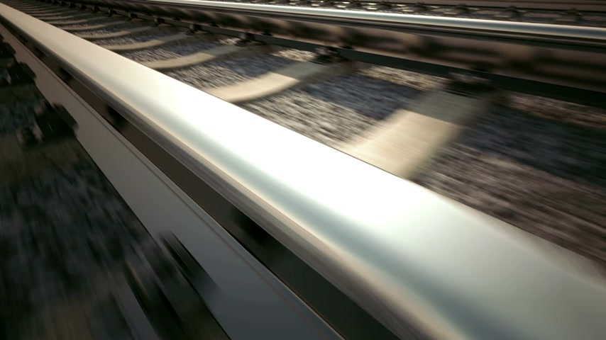 kreuzung : Railroad track loopable Animation. 3D-Animation. Videos