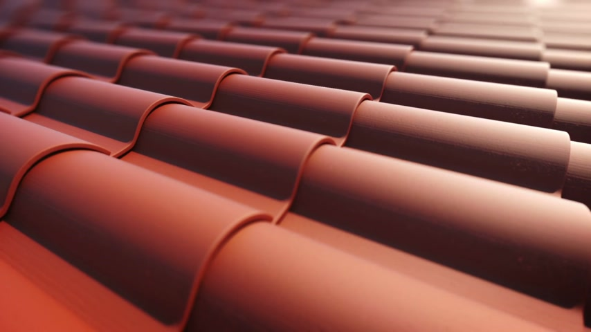 tető : Roof tiles loopable animation. Stock mozgókép